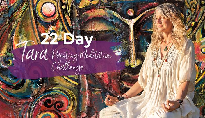 22 Day Tara Painting Meditation Challenge with Whitney Freya